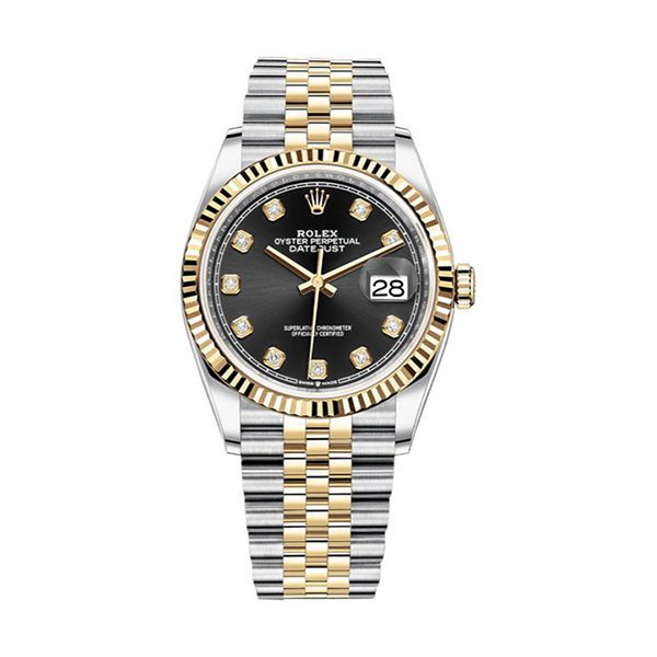 ROLEX Pre-Owned Oyster Perpetual DateJust 36mm Yellow Gold and Stainless Steel Ladies Watch
