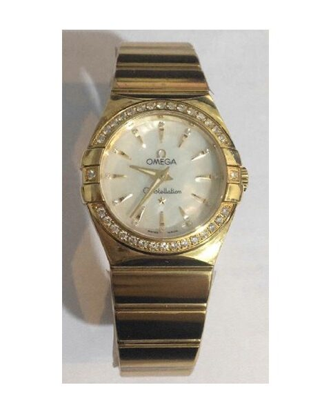 Omega Constellation Yellow Gold 27mm Mother Of Pearl Dial Ladies Watch