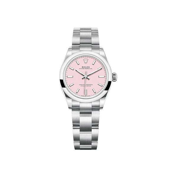 ROLEX OYSTER PERPETUAL 31MM LADIES WATCH REF. 277200 CANDY PINK