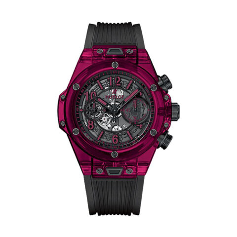 """HUBLOT Pre-Owned """"Big Bang"""" Unico Red Sapphire Men's Watch"""