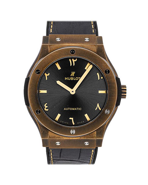 HUBLOT Pre-Owned Classic Fusion Special Edition Bronze Anticlockwise Men's Watch