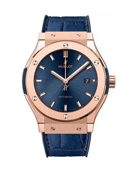 Hublot Pre-Owned Classic Fusion King Gold 42mm Men's Watch