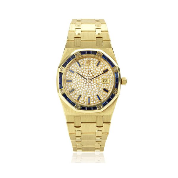 AUDEMARS PIGUET ROYAL OAK 18KT YELLOW GOLD LADIES' WATCH REF. 56602BA/789 SAPP