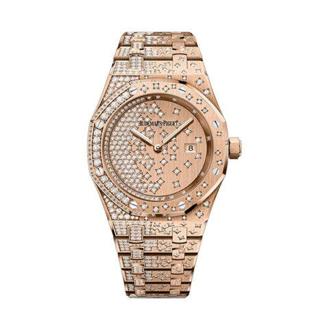AUDEMARS PIGUET ROYAL OAK QUARTZ STAR DIAMOND SET 33MM LADIES WATCH REF. 67654OR.ZZ.1264OR.01