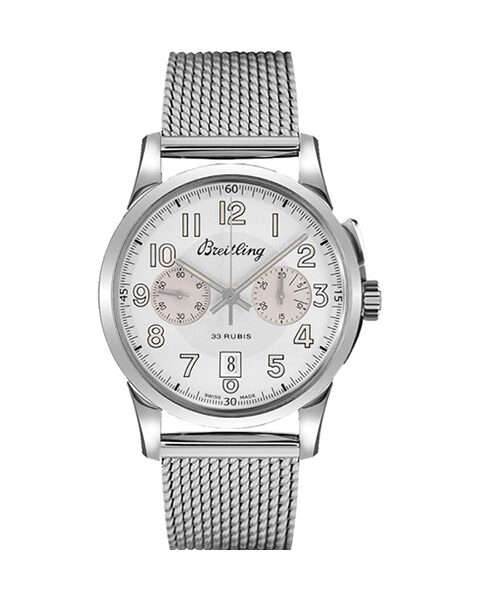 BREITLING Pre-Owned Transocean Chronograph 1915 Stainless Steel Men's Watch