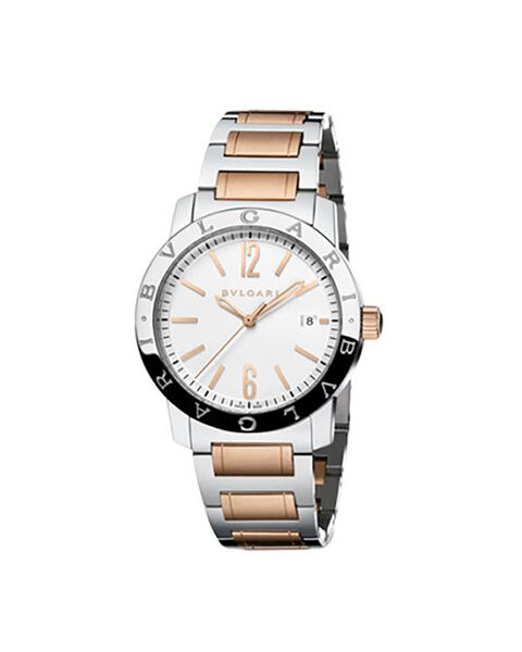 Bvlgari Pre-owned 18kt Rose Gold And Stainless Steel Case 39mm Ladies' Watch