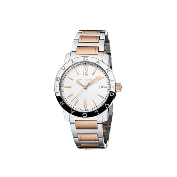 BVLGARI 18KT ROSE GOLD AND STAINLESS STEEL CASE 39 MM LADIES' WATCH REF. 102108