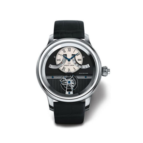 JAQUET DROZ WHITE GOLD TOURBILLON QUANTIEME MEN'S WATCH REF. J028034201