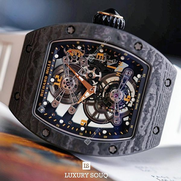 Richard Mille Pre-Owned RM017-01 Manual Winding Tourbillon Limited Edition Men's Watch
