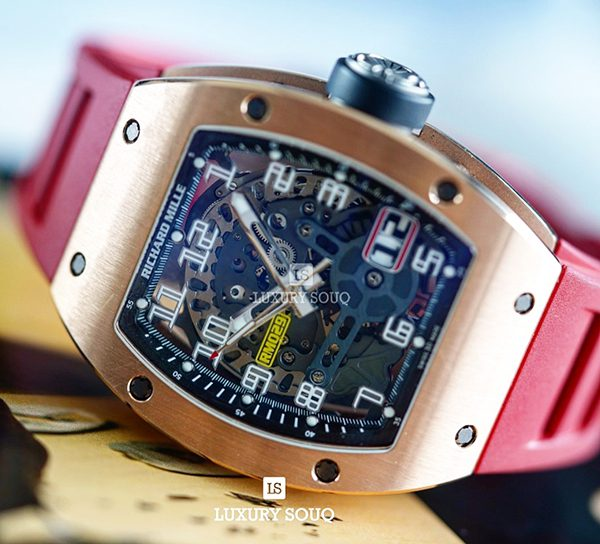 RICHARD MILLE RM029 AUTOMATIC BIG DATE SKELETON DIAL MEN'S WATCH