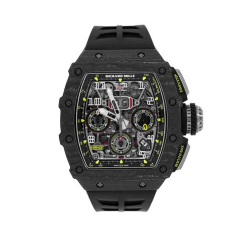 Richard Mille Pre-Owned Flyback Chronograph NTPT Carbon Men's Watch