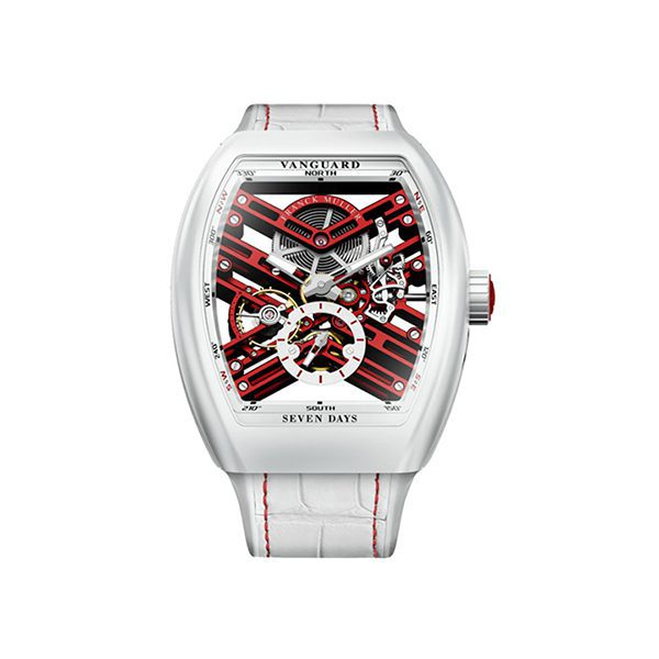 FRANCK MULLER VANGUARD SEVEN DAYS SKELETON SWISS LIMITED EDITION MENS WATCH REF. V45 S6 SQT TT BC ER