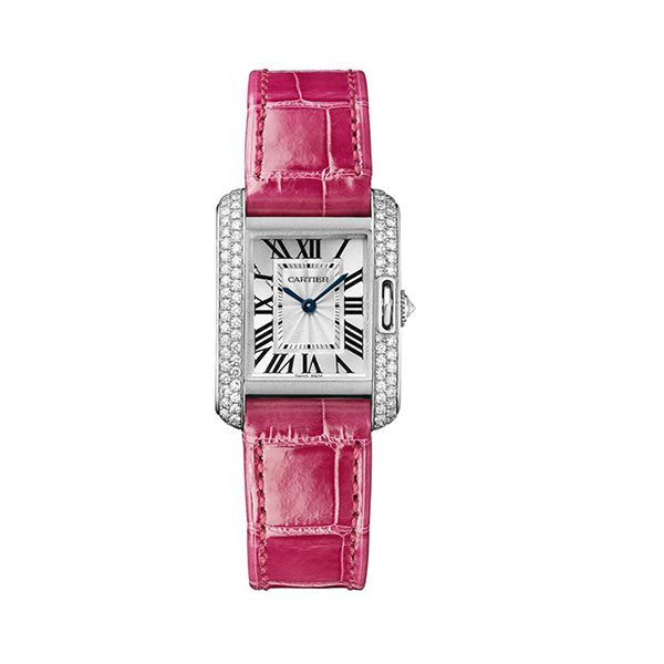 Cartier Pre-Owned Tank Anglaise Small White Gold & Diamond Ladies Watch