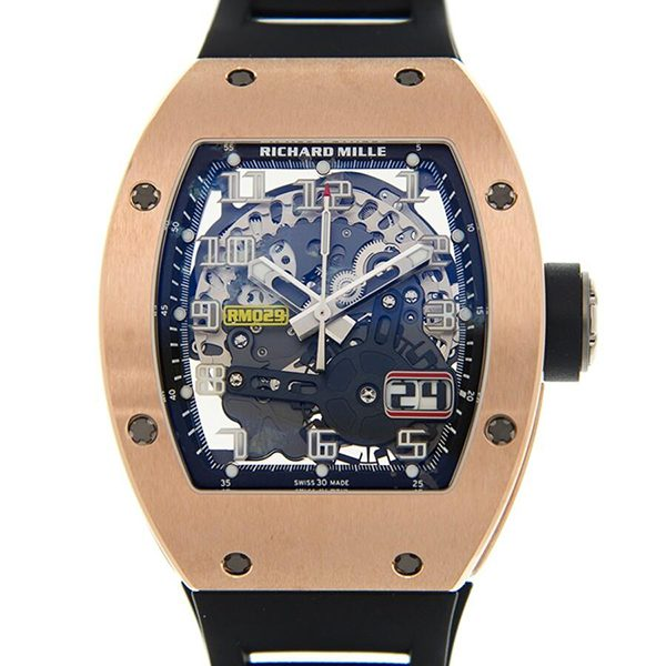 Richard Mille Pre-owned RM029 Automatic Big Date Skeleton Dial Men's Watch