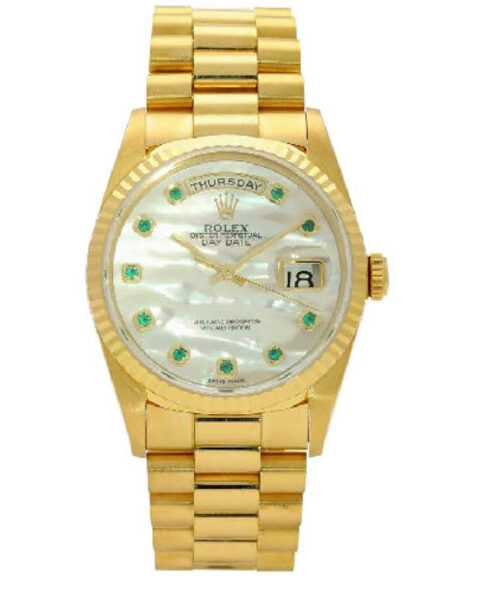 Rolex Pre-owned Oyster Perpetual Day-date 36mm Ladies' Watch