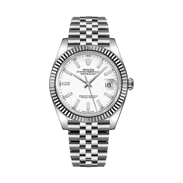 Rolex Pre-owned Datejust 41mm White Gold & Steel Men's Watch