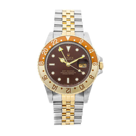 """Rolex GMT Master """"Rootbeer"""" Automatic 18K Two Tone Men's Watch"""