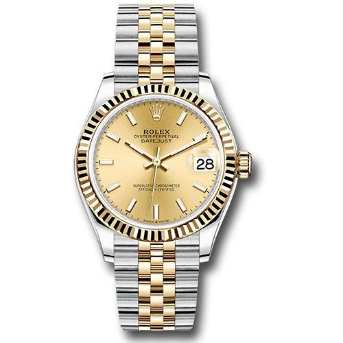 Rolex Datejust 31mm - Steel And Gold Yellow Gold - Fluted Bezel - Jubilee