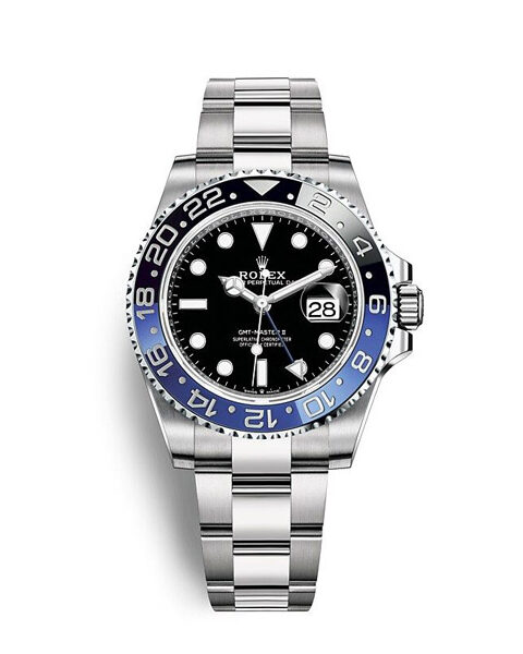 Professional Rolex Pre-owned GMT Master II Batman Oyster 40mm Stainless Steel Men's Watch