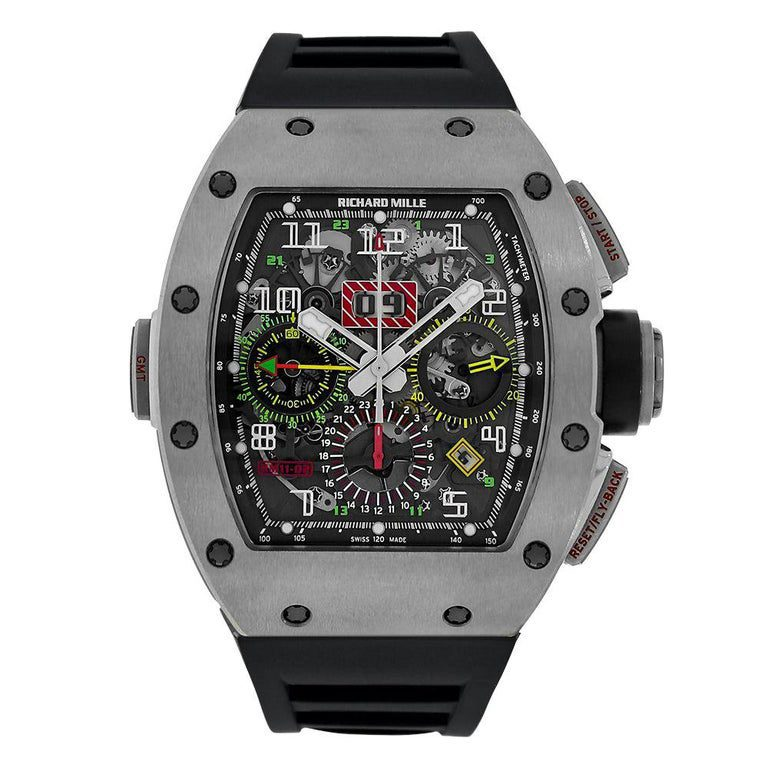 Richard Mille Pre-Owned Automatic Winding Flyback Chronograph Men's Watch