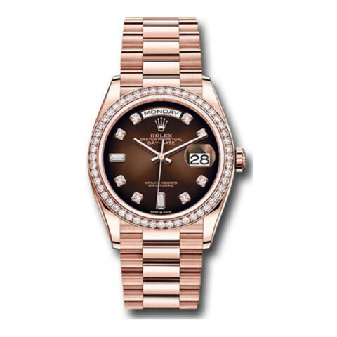 Rolex Pre-owned Everose Gold Day-Date 36 Ladies Watch