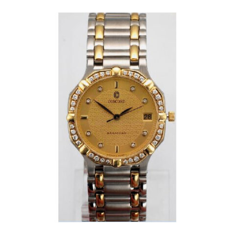 Concord  Saratoga Gold & Steel Champagne Dial Ladies Watch