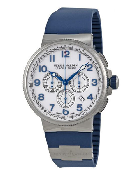 Ulysse Nardin Pre-owned Maxi Marine Chronograph Men's Chronograph Automatic Watch