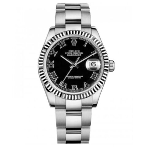 Rolex Pre-owned Datejust 31mm Stainless Steel and 18K White Gold Men's Watch
