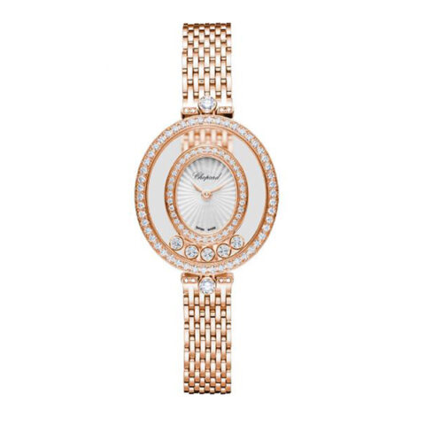 Chopard Pre-owned Happy Diamonds Icons Yellow Gold Ladies Watch