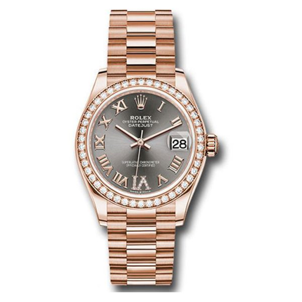 Rolex Pre-owned Everose Gold Datejust 31 Ladies Watch