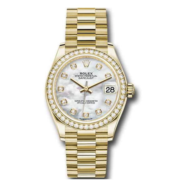 Rolex Pre-owned Yellow Gold Datejust 31 Ladies Watch