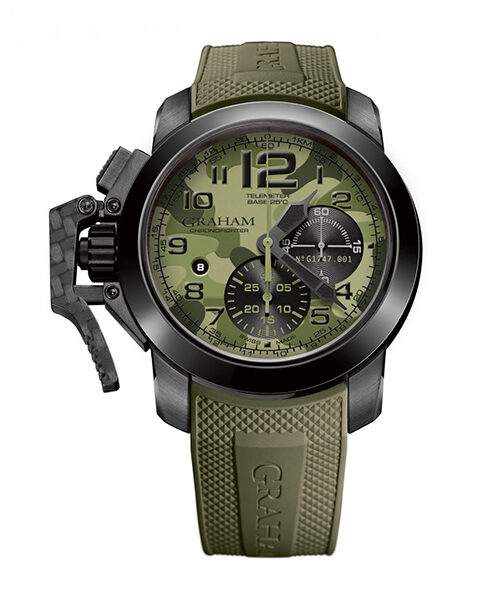 Graham Pre-owned Chronofighter Black Arrow Green Men's Watch