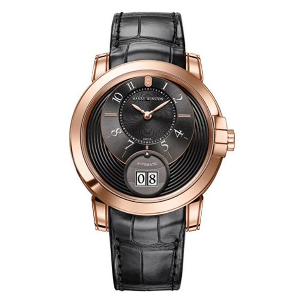 Harry Winston Pre-owned Midnight Big Date 42mm Rose Gold