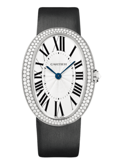Cartier Pre-owned Baignoire Large White gold Men's Watch