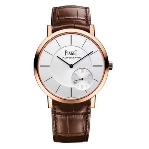 Piaget Pre-owned Altiplano Automatic 18kt Rose Gold Silver Dial Men's Watch