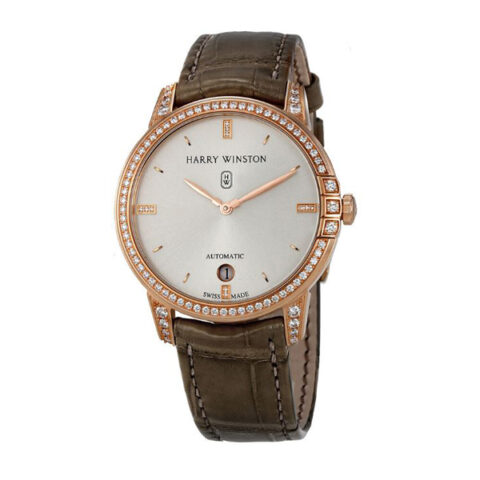 Harry Winston Pre-owned Midnight Automatic 36mm Rose Gold Diamond Men's Watch