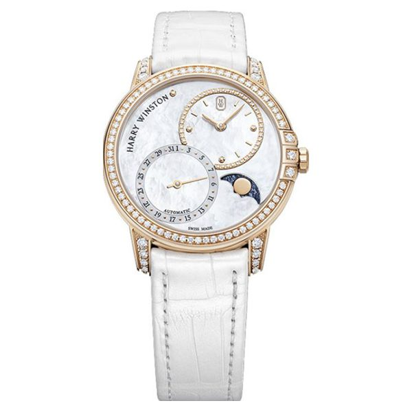 Harry Winston Pre-owned Midnight White Mother Of Pearl Dial Automatic Ladies Watch
