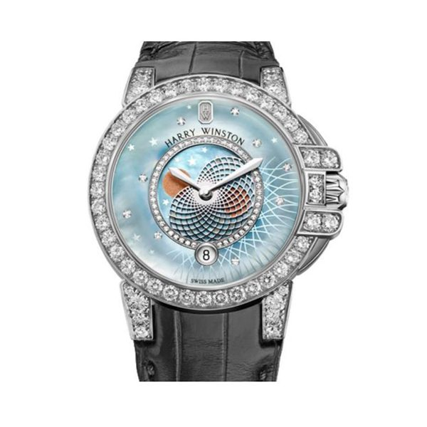Harry Winston Pre-owned Lady Moon Phase Men's Watch