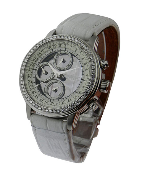 Quinting Mysterious Chronograph with Diamond Bezel Men's Watch