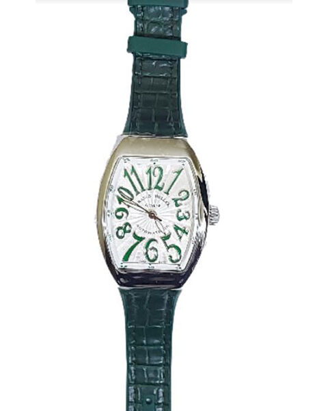 Franck Muller Pre-owned Vanguard Automatic Green Strap Ladies Watch