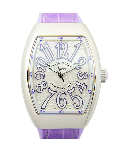 Franck Muller Pre-owned Vanguard Automatic Purple Strap Unisex Watch