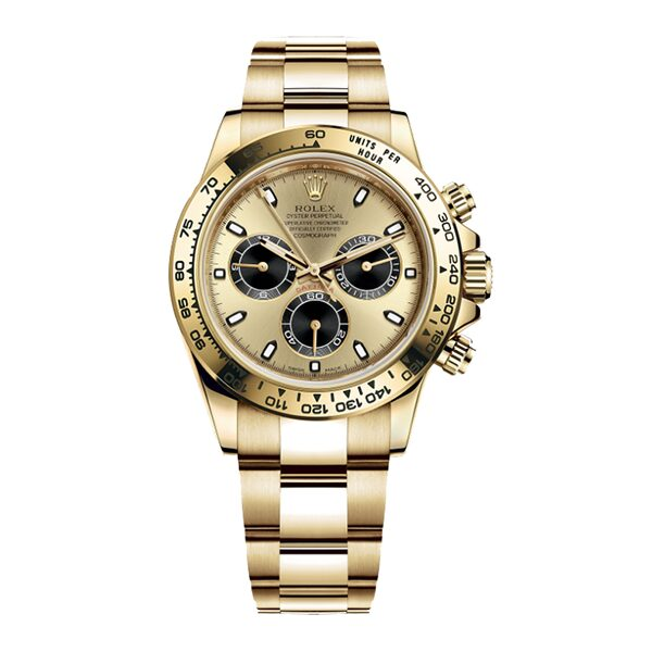 Rolex Oyster Pre-Owned Perpetual Cosmograph Daytona Yellow Gold Men's Watch