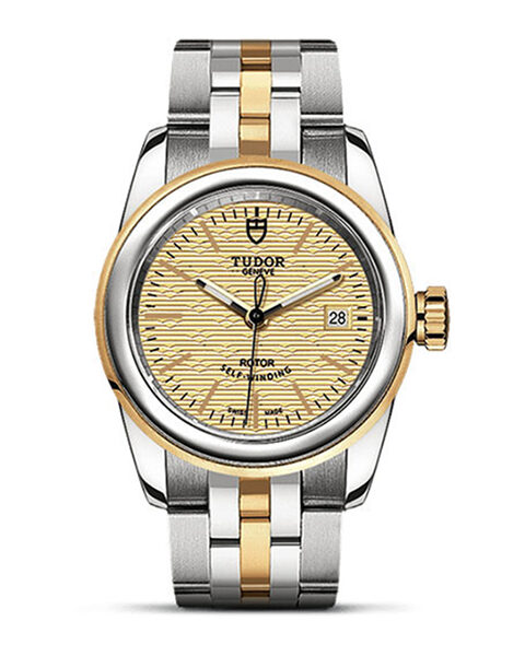 Tudor Pre-owned Glamour Date Champagne Dial Ladies' Watch
