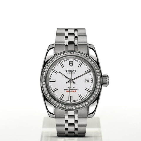 Tudor Pre-Owned Classic Date White Index Dial Men's Watch
